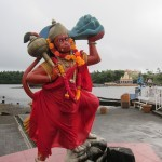 One of the Hindu gods at the Grand Bassin temple.