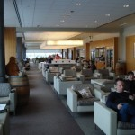 A shot down the main section of the Koru Lounge at LAX.
