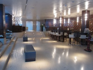 I loved the lobby--bright, spotless and very chic.