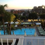 View from my balcony over the hotel's beautiful pool area.