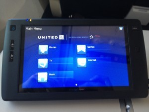 The tiny in-flight entertainment handheld set--barely entertaining at all!