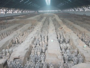 Pit 1 (out of 3) at the Terra Cotta Warrior Museum--the largest and most awe-inspiring.