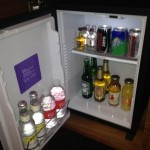 The minibar--all non-alcoholic beverages and snacks are free at Andaz.