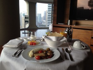 andaz sha room svc breakfast w a view