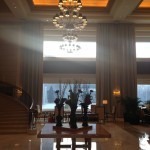 The lobby at the St. Regis Beijing