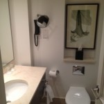 The bathroom in my Hyatt Churchill room--basic, but functional.
