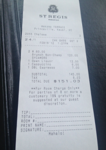 Brunch was good, but VERY expensive!