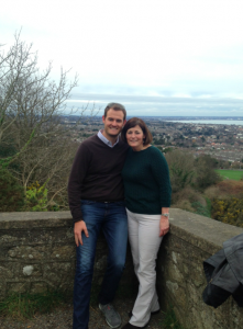 Me and momma TPG halfway up Kiliney Hill.