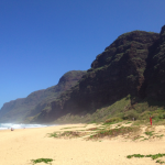 Getting to Polihale Beach was worth the bumpy ride. We practically had it to ourselves.