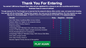 1,000 Free AAdvantage Miles for First 20,000 People Only