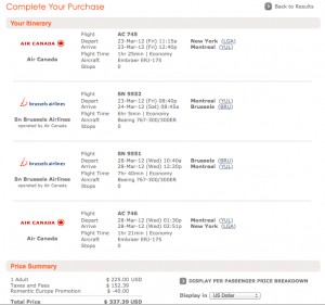 Amazing Deal Alert: Star Alliance Fares to Brussels from $232 Total Roundtrip