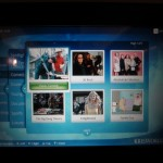 The in-flight movie selection on the seatback 15.4-inch LCD screens.