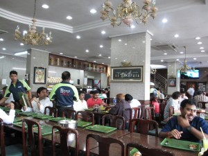 The Banana Leaf Apolo Restaurant in Singapore's Little India district.
