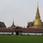 Wat Phra Kaew or the Temple of the Emerald Buddha as seen from the Outer Court.