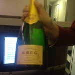 Pre-flight Krug. Yes please!