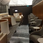 The makeshift Cathay First Class lounge.