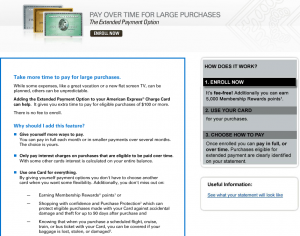10,000 Free Amex Points For Enrolling in Extended Payment Option
