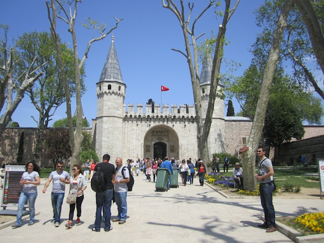 The entrance gate to Topkapi Palace, home of the Ottoman emperors for over 400 years.
