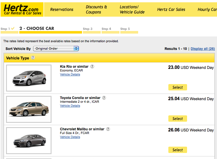 Hertz Rent A Car Coupons