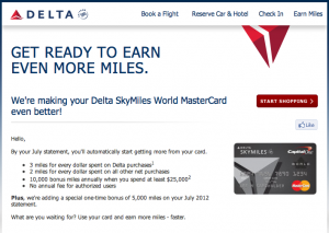 New Perks for the Delta SkyMiles World MasterCard Canada