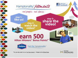 Another Hamptonality Moments 500 Free Hilton HHonors Points