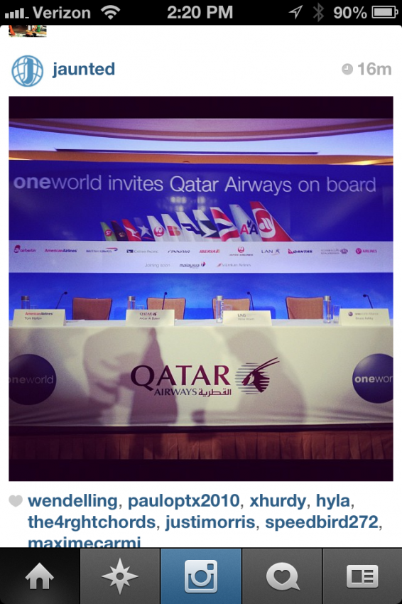 Hat tip to Jaunted.com for this Instagram shot at the press conference.