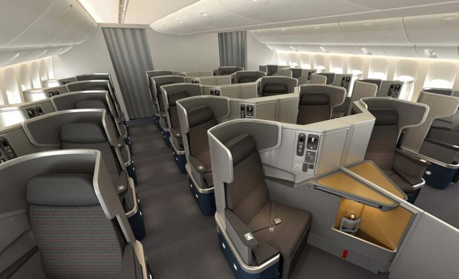 United Airlines First Class 767 these new business class