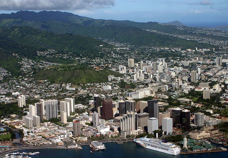 Overview of downtown Oahu.