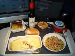 Even meals aboard Air France are uninspired.
