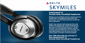 Earn 1500 bonus SkyMiles with purchase of headphones.