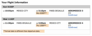 Mexico City- Paris for 100,000 SkyMiles and ?? in taxes on Aeromexico.