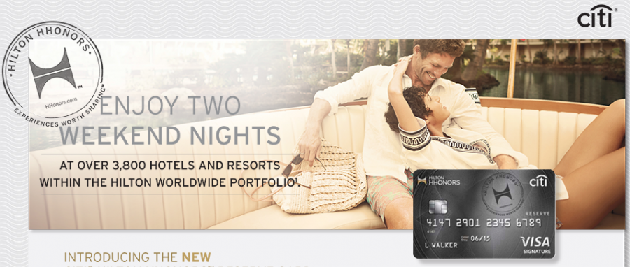 The Citi Hilton Reserve card gives two free nights.