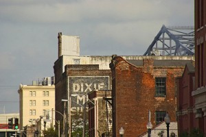 The Warehouse District in New Orleans.