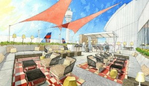 The Sky Deck, coming this summer to the Delta Sky Club at Atlanta's Concourse F and JFK's Terminal 4