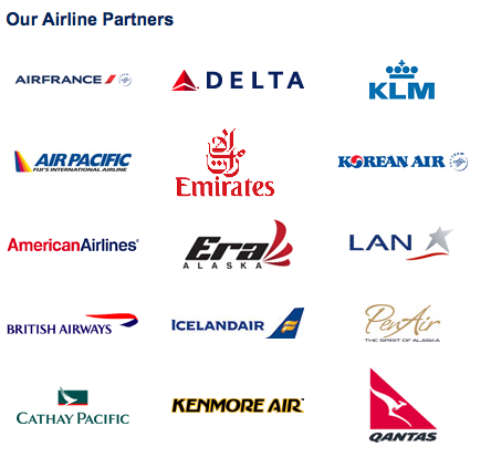 Alaska Airlines partners.