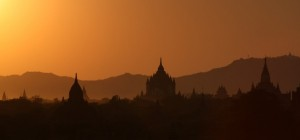 The Bagan complex in Burma once containes over 10,000 temples and other structures.