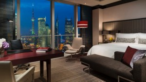 King guest room at the Four Seasons Pudong.