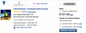 The Intercontinental Santo Domingo has rooms for $127 a night.