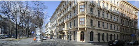 The exterior of the Ritz-Carlton Vienna.