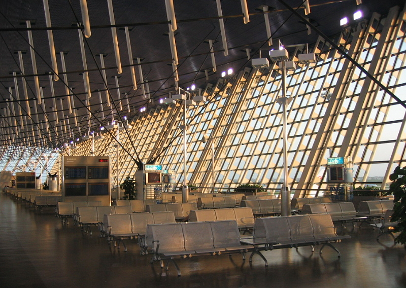 Terminal 1 of Pudong International Airport.