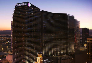 The imposing façade of the Cosmopolitan.
