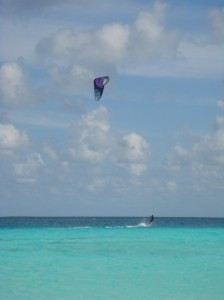 Water sports on the crystal blue water.