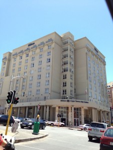 Exterior of the Hilton Cape Town.