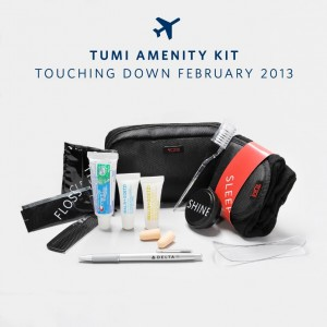 Delta's new BusinessElite amenity kit.