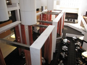 Interior Atrium at the Hyatt Regency Suites Palm Springs.