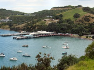 The ferry terminal at Matiatia on Waiheke Island.