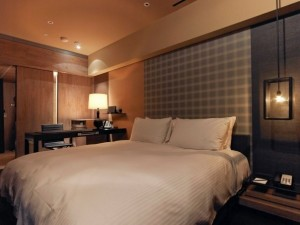 King guest room at the Hotel Quote Taipei.