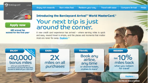 Barclaycard Arrival Offer