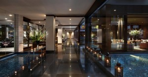 Lobby area of the Sofitel Auckland Viaduct Harbour.