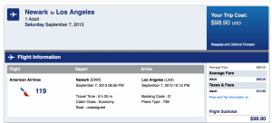 $99 Newark to LAX!